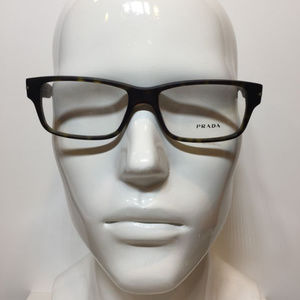 61975e2c8cb Prada Accessories - Prada VPR 22R HAQ -Matte Brown Eyeglasses